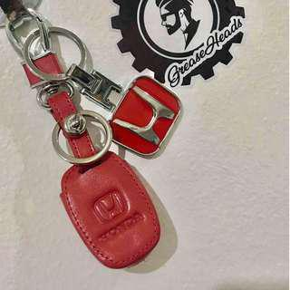 Honda Civic/City/Jazz/Mobilio/CRV Leather Key Cover Red