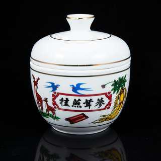 中藥罐 香料罐 絕版陶瓷罐 桂燕茸蔘罐