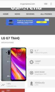 J - lg g7 think q silver