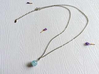🚚 手作 925純銀 海藍寶項鍊
