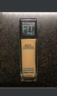 Maybelline Fit Me Poreless Matte Foundation Shade 220