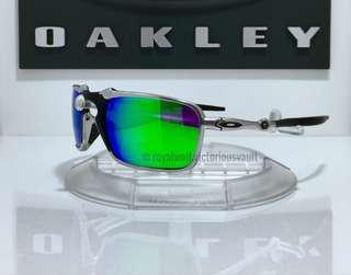 9303d7dbc31fc Oakley X Metal Badman Custom Polished w Aftermarket Emerald Polarized
