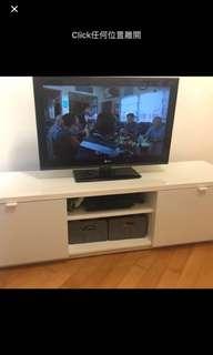 新淨純白漆面電視櫃