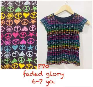Faded Glory tops tshirts for girls kids
