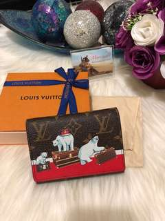 Louis Vuitton Victorine Wallet Christmas Animation
