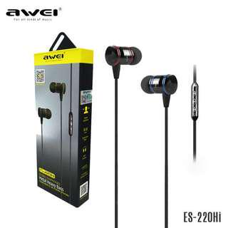aWei ES220hi Earphones In-Ear Earbuds Stereo Wired Headsets with Remote Control
