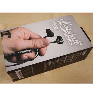 FREE DELIVER: MARSHALL MODE ORIGINAL Brand New in Retail Box earphones