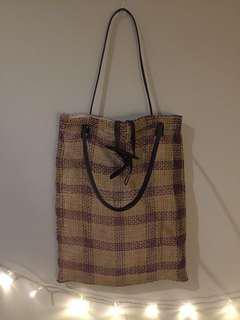 Woven Vintage Tote Bag