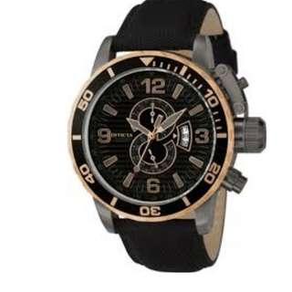 Invicta Corduba Chronograph Black Dial Black Nylon 12622 Men's Watch