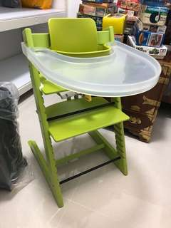 🚚 Stokke Tripp Trapp with play tray translucent. *PRICE REDUCED**
