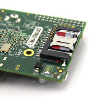 Raspberry Pi Low-Profile microSD Card Adapter for Raspberry Pi Model B