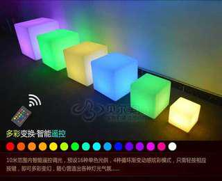 LED Colorful table & chair
