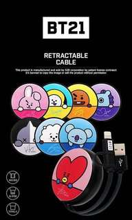 [PO] BT21 power bank & cable