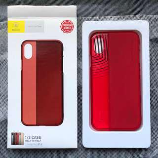 Baseus 1/2 case half to half red iPhone X