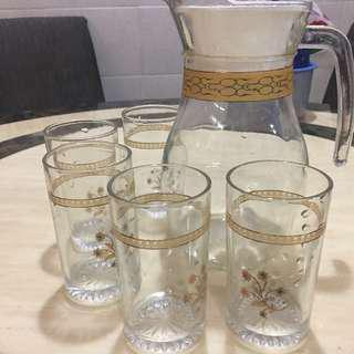 (As New) Jug & Cups - Gelas Kaca