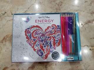 Vive Le Color Energy Coloring Book And Pencils