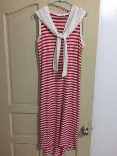 🚚 無袖長版洋裝