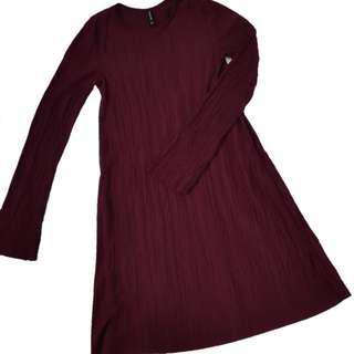 Stradivarius A-line Long Sleeve Dress