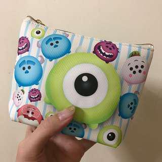 「免運」大眼怪 化妝包 衛生棉包 收納包 隨身包 迪士尼