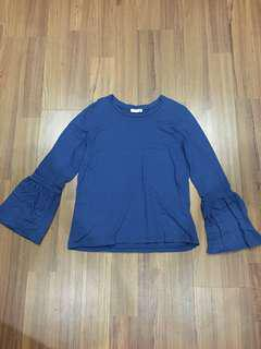 P&Co Flare sleeve top / long sleeve / blouse