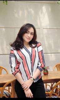 LADYFAMESHOP Stripe Tshirt