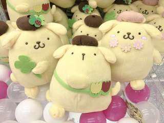 Sanrio 布甸狗公仔中size 20cm高  100%正版、全新  60$一隻 110$兩隻 160$一套三隻
