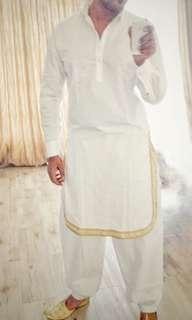 Pathan Kurtha - White