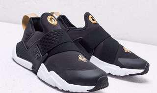 🚚 保證正品✨ nike HUARACHE EXTREME GS 襪套 武士鞋 黑 金 大童 女鞋 輕量 慢跑 休閒 運動