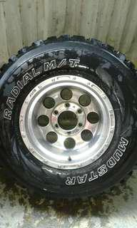15 inch Mags and mud terrain tires m.t