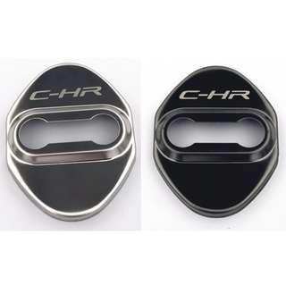 Car Door Lock Protection Cover With C-HR Logo Stainless Steel 4 Pcs Shinning Good Quality