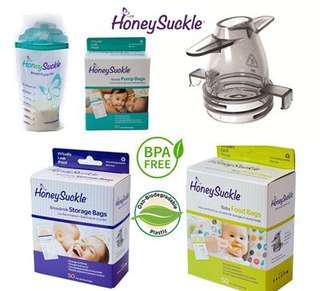 Honeysuckle breastpump bags n breastmilk storage bags