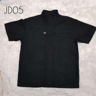 PLUS SIZE Zippered Black Shirt