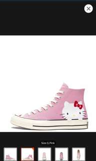 Limited edition CONVERSE X HELLO KITTY CHUCK TAYLOR ALL STAR 70 HIGH TOP