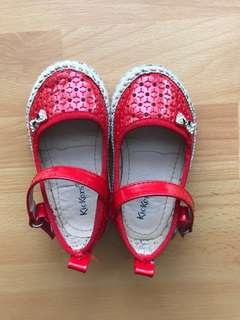 Kickers Toddler Shoes (Red) Size 21