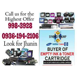 Brand new Expired Highest Buying Price Buyer of Empty Ink Cartridges and Toner