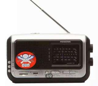 MULTI-PURPOSE Portable AM/FM Radio, USB, LED Light, Siren