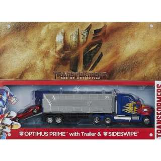 Transformers MISB Platinum Age of Extinction AOE Optimus Prime Trailer Sideswipe