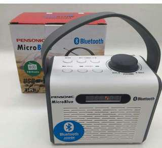 SALE! Rechargeable FM Radio, Bluetooth, USB (Pensonic Microblue)