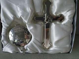 出口歐美新生嬰兒禮盒 God Bless this Baby 十字架及小禮盒