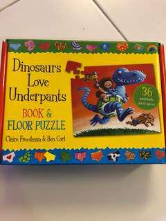 BNIB Book and Floor Puzzle