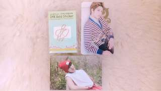 INFINITE DONGWOO 24K GOLD SIGN + TRANSPARENT PC from 24HOUR ERA with sign + OFFICIAL DONGWOO PC FROM 5th MEMBERSHIP INSPIRIT