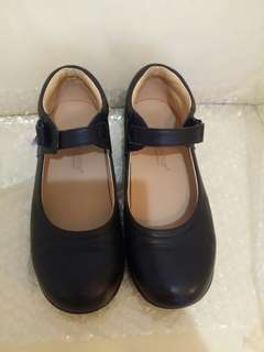 Dr Kong 34号黑色返學皮鞋