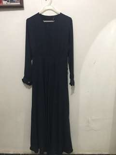 gamis polos navy