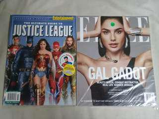 Gal Gadot Mags Combo: Entertainment Weekly - Justice League Ultimate Collector & Elle Magazine Dec 2017
