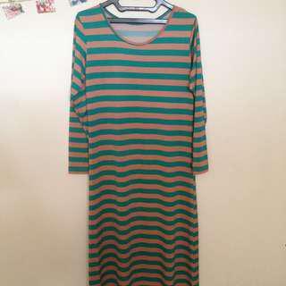 [FREE ONGKIR] LongDress Stripes wanita syari