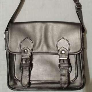 Penshoppe silver satchel crossbody bag