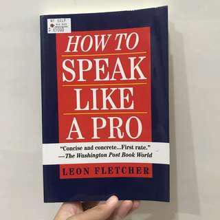 How to speak like a pro leon fletcher