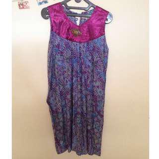[FREE ONGKIR] Dress Batik ungu
