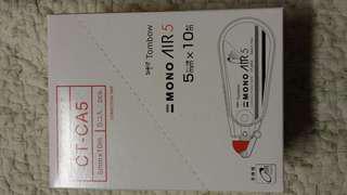 Tombow 蜻蜓牌MONO Air 5mm×10m塗改帶×5(盒裝)
