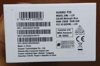 Huawei P20(EML-L29)